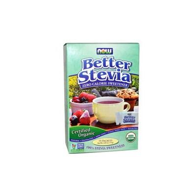 NOW BETTER STEVIA Packets, 75 Packets #6942 ナウ ベターステビア 75包