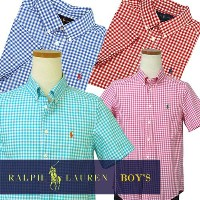 POLO by Ralph Lauren Boy's半袖ギンガムチェックシャツ【2016-Spring/NewColor】【ラルフローレン ボーイズ】 ギフト プレゼント