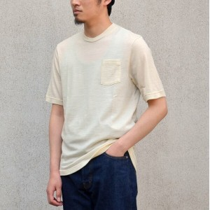 FLISTFIA(フリストフィア)/Washable Wool T-shirt-Cream-