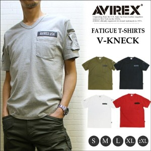 【SALE!】アビレックス ファティーグ ミリタリーTシャツ V首 (AVIREX S/S FATIGUE TEE V-KNECK)