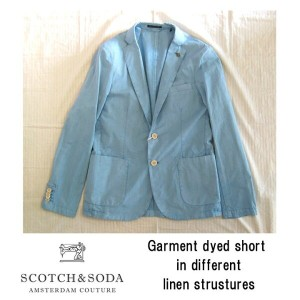 SCOTCH&SODA(スコッチ&ソーダ)Lightweight cotton summer blazerジャケット50 BLUE