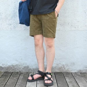 TATAMIZE(タタミゼ)/ Corduroy Work Shorts -OLIVE-