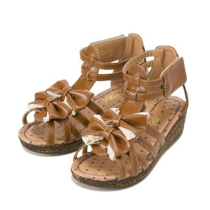 ジュニア 【CHARDAS】 チャルダス KIDS JR RIBBON GLADIATOR(17-23) CS-2512 16SM CAMEL