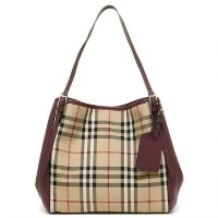 BURBERRY 3994661-6097BHORSEFERRY CHECK SMALL CANTERホースフェリーチェックバーバリー トートバッグPVC×レザーホースフェリーチェック...
