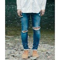 【SAY!(セイ)】SAY-266-DAMAGED SKINNY JOG DENIM スキニーデニム