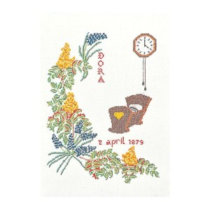 Thea Gouverneur クロスステッチ刺繍キットNo.864 「April」(4月) テア・グーヴェルヌール 【取り寄せ/納期40~80日程度】