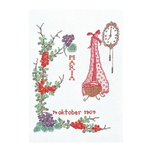 Thea Gouverneur クロスステッチ刺繍キットNo.870 「October」(10月) テア・グーヴェルヌール 【取り寄せ/納期40~80日程度】