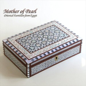 Mother of Pearl エジプト螺鈿のジュエリーボックス・長方形