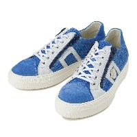 【BAGATTO】 バガット WOVEN LACE UP ウーヴン レースアップ スニーカー 1978 BLUE