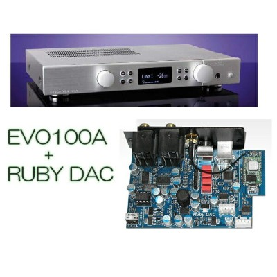【~10/23(火)9:59まで最大P28倍】CREEK EVOLUTION 100A + Ruby DAC/SL(シルバー) Integrated Amplifier + ブルートゥース...
