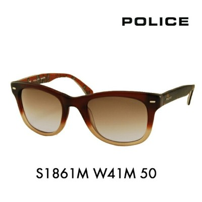 【OUTLET★SALE】アウトレット セール ポリス メガネ サングラス 伊達メガネ 眼鏡 S1861M W41M 50 POLICE
