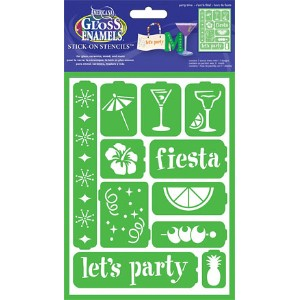 DecoArt ステンシルシート (Adhesive Reusable) Party Time