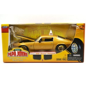 "JADA TOYS 1:24SCALE PAPA JOHN'S PIZZA ""1971 CHEVY CAMARO Z28""(GOLD) ジェイダトイズ 1:24スケール パパジョンズピザ 「1971..."