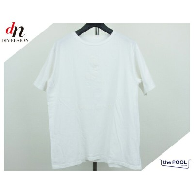 the POOL aoyama ミッキー Tシャツ S 白白 DIVE INTO THE POOL 【中古】 DN-1250