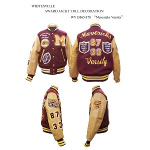 "WHITESVILLE ホワイツビルAWARD JACKT FULL DECORATION""Mavericks Varsity"" WV13365-170-15AW2015年モデル「NC」"
