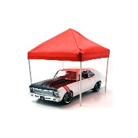 "AMERICAN DIORAMA 1:18SCALE ""ACCESSORY CANOPY SET""TENT(BLUE&RED) アメリカンジオラマ 1:18スケール 「アクセサリー キャノピー..."