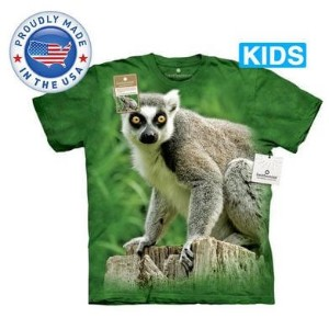The Mountain Tシャツ The Smithsonian Ring Tailed Lemur (The Smithsonian サル 猿 キツネザル キッズ 子供用)【輸入品】半袖