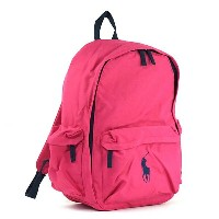 ラルフローレン RALPH LAUREN バックパック 950225 CLASSIC PONY BACKPACK II ULTRA PINK/NAVY PP PK【楽ギフ_包装】
