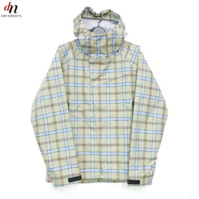 uniformexperiment 3 LAYER NYLON CHECK MOUNTAIN PARKA チェックマウンテンパーカー KHAKI 【中古】 DNS-1231