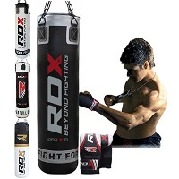 RDX Boxing 5FT Punch Bag Unfilled MMA Punching Training グローブ KickBoxing (海外取寄せ品)