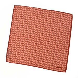 TIEYOURTIE【タイユアタイ】chief T82023 silk RED(チーフ シルク プリント ジオメトリック柄 レッド)