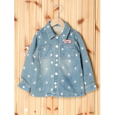 【SALE/35%OFF】X-girl Stages JACKET STAR EMBROIDERY (4T~7T) エックスガールステージス コート/ジャケット【RBA_S】【RBA_E】【送料無料】