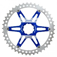 (FOURIERS/フォーリアーズ)(自転車用スプロケット/チェーン関連)MTB スプロケット40T ブルー (DX008-SK-406)