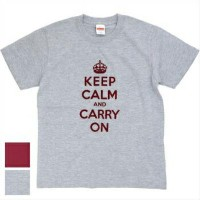 【Military Style/ミリタリースタイル】KEEP CALM and CARRY ON ショートスリーブ Tシャツ[3色]
