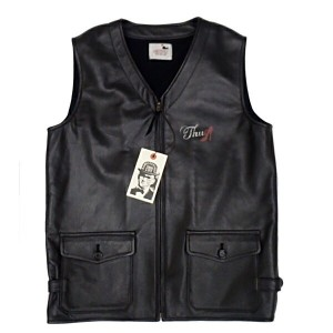 """GLAD HAND GANGSTERVILLE ギャングスタービル メンズ レザーベスト 【黒/茶2色展開】 THUG VEST """"COW HIDE"""" 【GSV16AW07 17aw07】"""