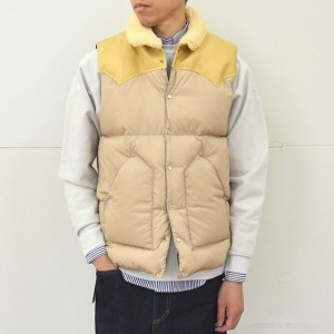 Rocky Mountain Featherbed(ロッキーマウンテンフェザーベッド)/ CHRISTY DOWN VEST/NYLON -(110)TAN-