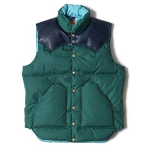 WAREHOUSE ウエアハウス × Rocky Mountain Feather Bed ロッキー マウンテン WH DOWN VEST ナイロン ダウンベスト コラボレーション ダブルネーム