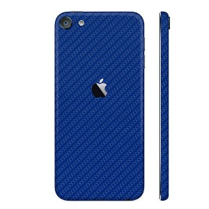 iPod touch 第6世代 ケースより外観を美しく上品に!【iPod touch 第6世代 カーボン調プレミアムスキンシール】【カーボンブルー】【RCP】【10P23Apr16】