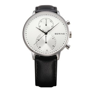 BERING Mens Classic Calf Leather(13242-404 シルバー×ブラック)