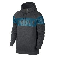 Jordan Jumpman Brushed Pull Over Graphic Hoodie メンズ Charcoal Heather/Green Abyss パーカー ジョーダン