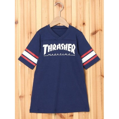 【SALE/40%OFF】X-girl Stages Thrasher/FOOTBALL DRESS(4T~7T) エックスガールステージス ワンピース【RBA_S】【RBA_E】【送料無料】