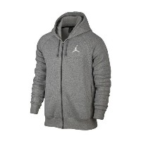 Jordan Flight Fleece Full Zip Hoodie メンズ Dark Grey Heather/White パーカー ジョーダン NIKE ナイキ
