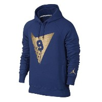 Jordan Retro 7 Fleece Pull Over Hoodie メンズ Deep Royal Blue/Metallic Gold パーカー ジョーダン