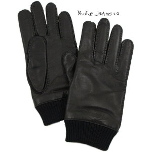 Nudie Jeans co/ヌーディージーンズ ARVIDSSON LEATHER GLOVE レザーグローブ/ラムナッパレザーグローブ/革手袋