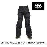 2016 686 シックスエイトシックス パンツ YOUTH BOYS ALL TERRAIN INSULATED PANT BLACK