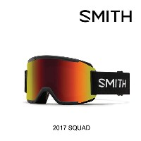 2017 SMITH スミス ゴーグル GOGGLE SQUAD BLACK/RED SOL-X MIRROR+YELLOW