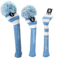 RocketTour Light Blue Rugby Stripe Pom Pom Headcover 【ゴルフ アクセサリー>ヘッドカバー】