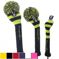 RocketTour Black Base Rugby Stripe Pom Pom Headcover【ゴルフ アクセサリー>ヘッドカバー】