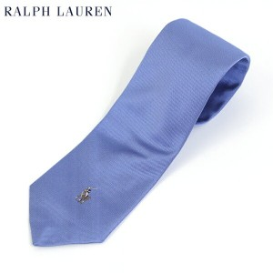 POLO by Ralph Lauren Silk Necktie (LIGHT BLUE) US ポロ ラルフローレン シルク ネクタイ ポニー刺繍
