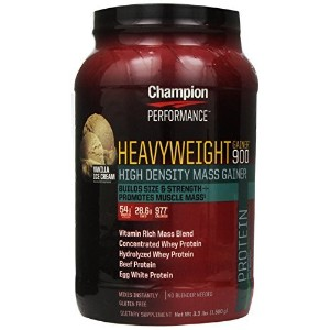 Champion Nutrition, Heavyweight Gainer 900, Vanilla, 3.3 lbs (1,500 g) by Champion Nutrition