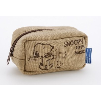 SNOOPY with Music マウスピースポーチ & クロスセット (トロンボーン)