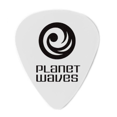 Planet Waves by D'Addario プラネットウェーブス ピック 1CWH6-100 Celluloid White 1.00mm スタンダード型 100枚入り 【国内正規品】