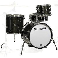 Ludwig LC179X016 SPARKLE BREAKBEATS BLACK GOLD SPARKLE ラディック ブレイクビーツ 4点シェルキット