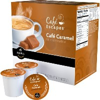 Keurig (キューリグ) Cafe Escapes  カフェキャラメルK  カップ16個【並行輸入品】