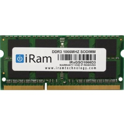 iRam Technology Mac用メモリ DDR3/1066 2GB 204pin SO-DIMM IR2GSO1066D3