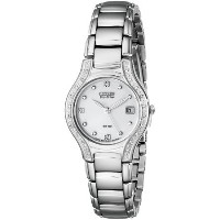 シチズン Citizen Women's EW0970-51B Silhouette Diamond Eco Drive Watch in Silver Tone 女性 レディース 腕時計 ...